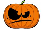 Halloween Kürbis schnitzen Vorlage 1