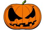 Halloween Kürbis schnitzen Vorlage 10