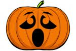 Halloween Kürbis schnitzen Vorlage 11