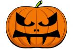 Halloween Kürbis schnitzen Vorlage 12