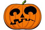 Halloween Kürbis schnitzen Vorlage 14