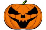 Halloween Kürbis schnitzen Vorlage 16