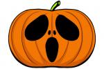 Halloween Kürbis schnitzen Vorlage 17