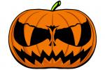 Halloween Kürbis schnitzen Vorlage 19