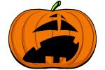 Halloween Kürbis schnitzen Vorlage 2