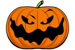 Halloween Kürbis schnitzen Vorlage 20