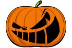 Halloween Kürbis schnitzen Vorlage 3