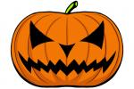 Halloween Kürbis schnitzen Vorlage 4