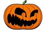 Halloween Kürbis schnitzen Vorlage 5
