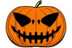 Halloween Kürbis schnitzen Vorlage 6