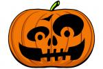 Halloween Kürbis schnitzen Vorlage 7