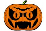 Halloween Kürbis schnitzen Vorlage 8