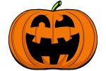 Halloween Kürbis schnitzen Vorlage 9