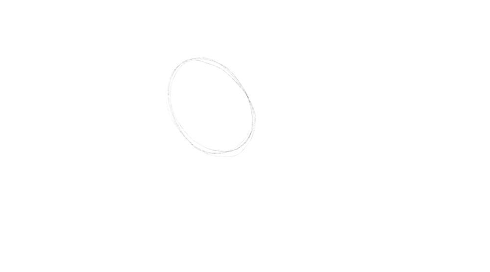 Oberkörper der Katze zeichnen