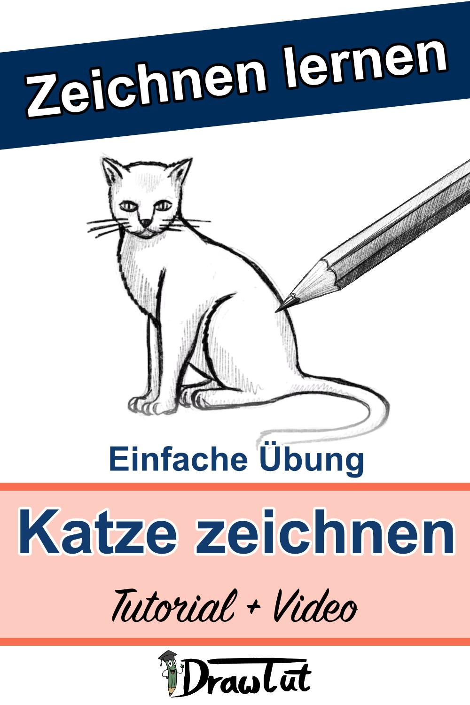 Katze zeichnen Tutorial und Video