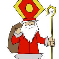 Nikolaus Zeichnung Bild
