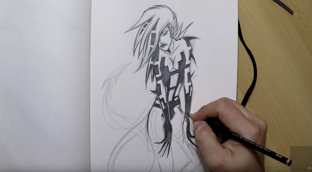 Skizze mit einem Bleistift erstellen