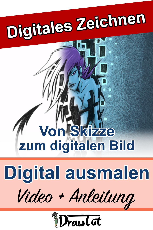 Skizzen digital ausmalen