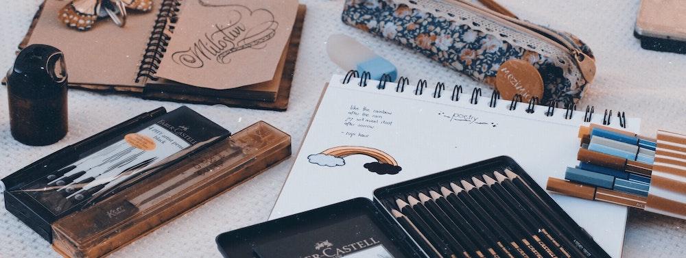 Nutze verschiedene Skizzenbücher