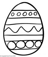 Ostern Kinder Ausmalbild Ei
