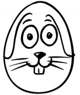Ostern Kinder Ausmalbild Hase Ei