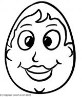 Ostern Kinder Ausmalbild Mama Ei