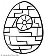 Ostern Kinder Ausmalbild Star Wars Todesstern Ei
