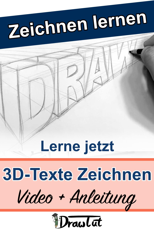 3D Texte Zeichnen lernen