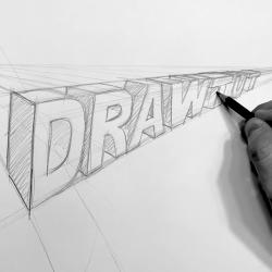 Texte und Schriftzüge in 3D Zeichnen Lernen