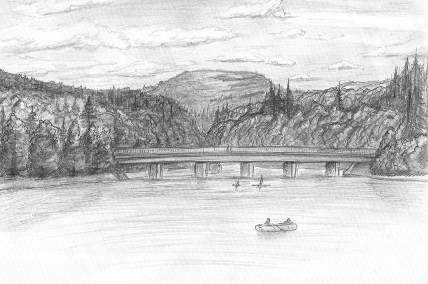 Zeichnung Landschaft Bleistift