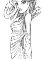 Bleistift Zeichnung Medusa