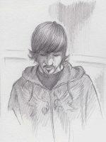 Bleistiftzeichnung Skizze einfach Mann