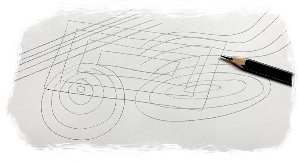 Grundformen zeichnen mit einem Bleistift