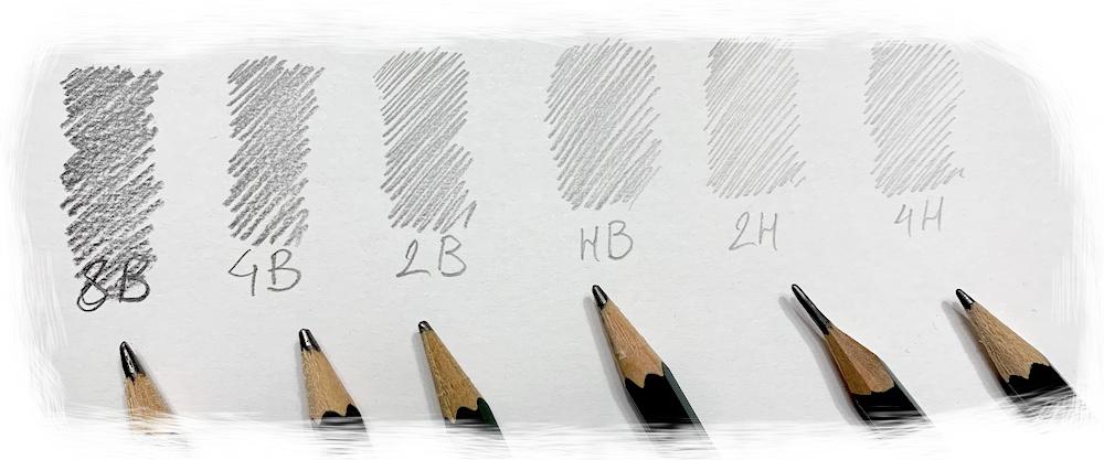 HB harte und wichen Bleistifte im Vergleich