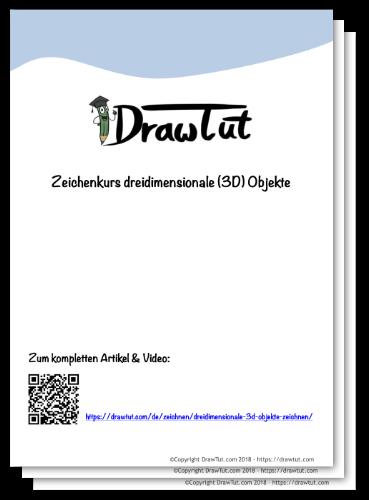 Zeichenkurs 3D Objekte-DrawTut