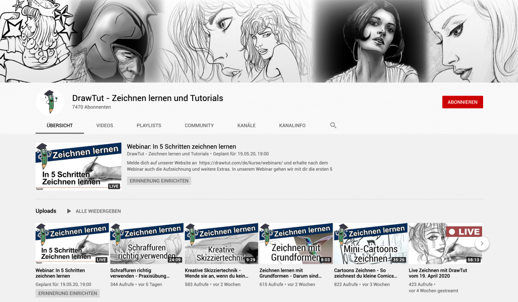 Zeichnen lernen YouTube Drawtut