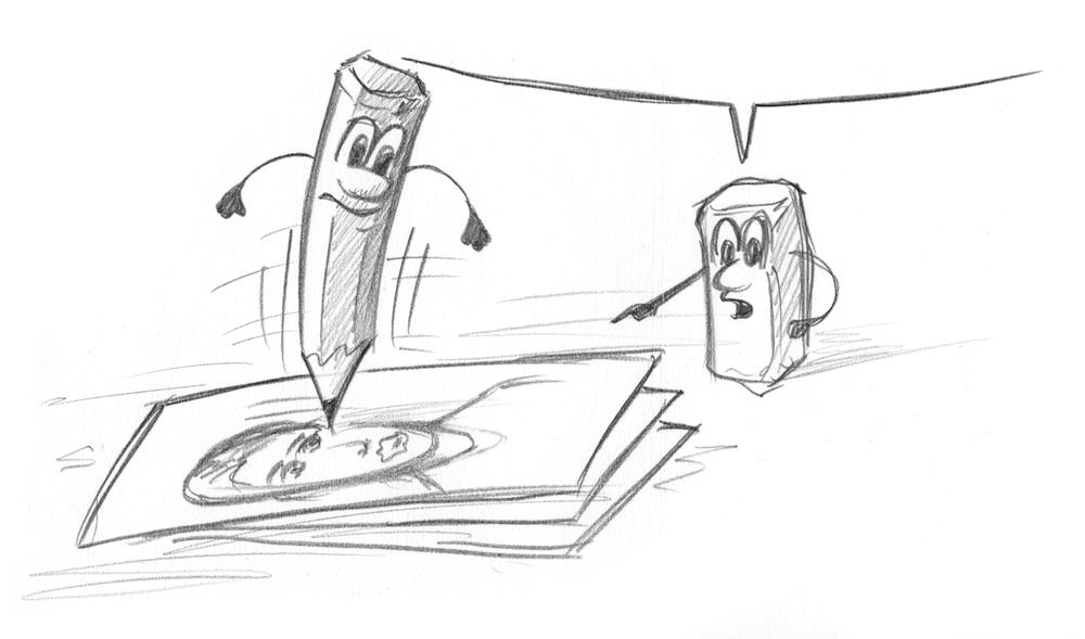 Zeichnen lernen mit Bleistift und Papier