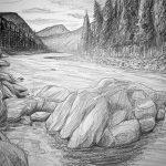 Landschaft Zeichnung Live