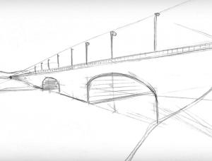 Perspektive Zeichnen Brücke
