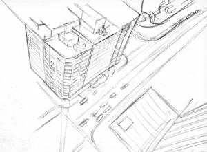 Perspektive Zichnen Stadt