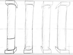Perspektive zeichnen Säulen