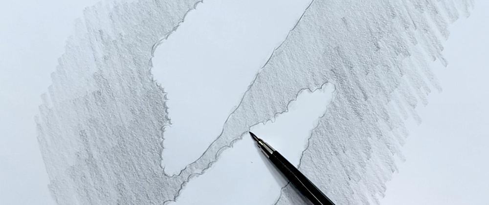 Wolken Zeichnen Schritt 3 - Konturen mit flachen Seite des Bleistiftes nachzeichnen