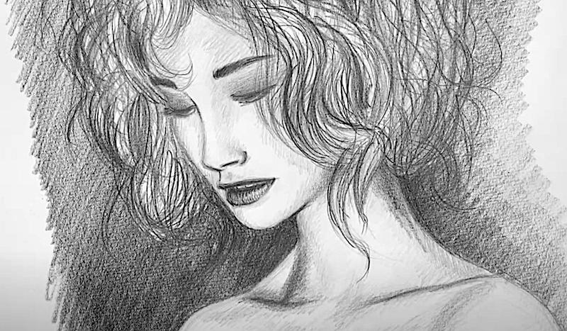 Zeichnung Gesicht einer Frau