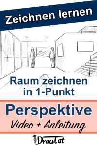 Raum zeichnen in 1-Pinkt Perspektive Pin