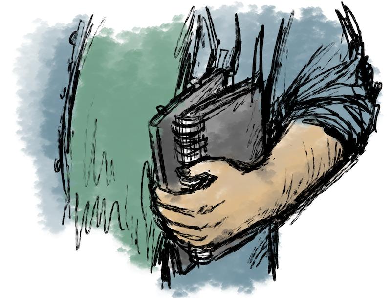 Skizzenbuch mitnehmen