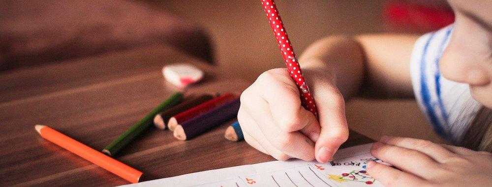 Kind Wunschzettel schreiben