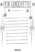Wunschzettel Voralge und Ausmalbild 2