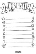 Wunschzettel Voralge und Ausmalbild 3