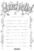 Wunschzettel Voralge und Ausmalbild 4