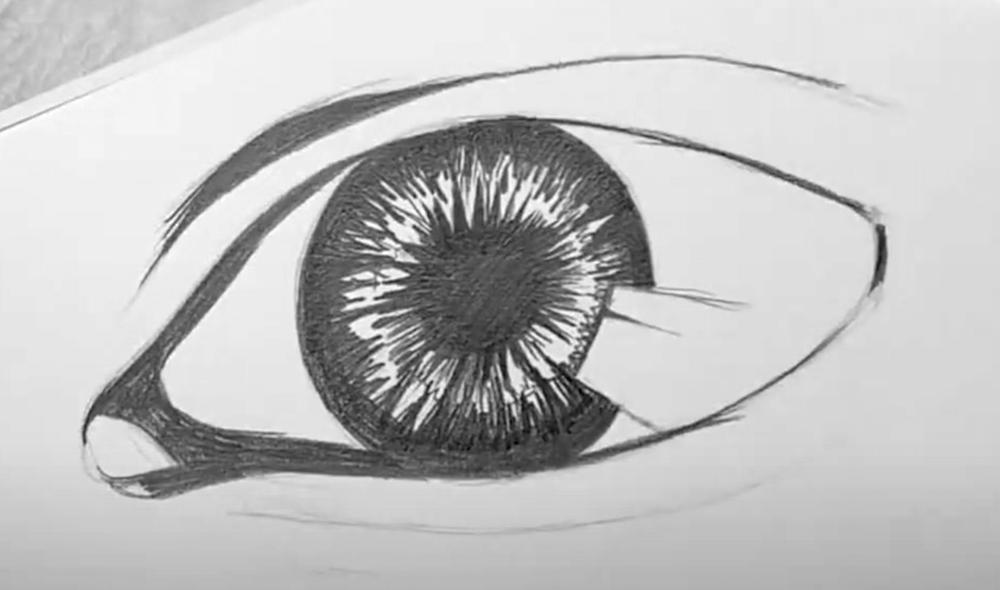 Auge Zeichnen Schritt 3 - fertige Konturen